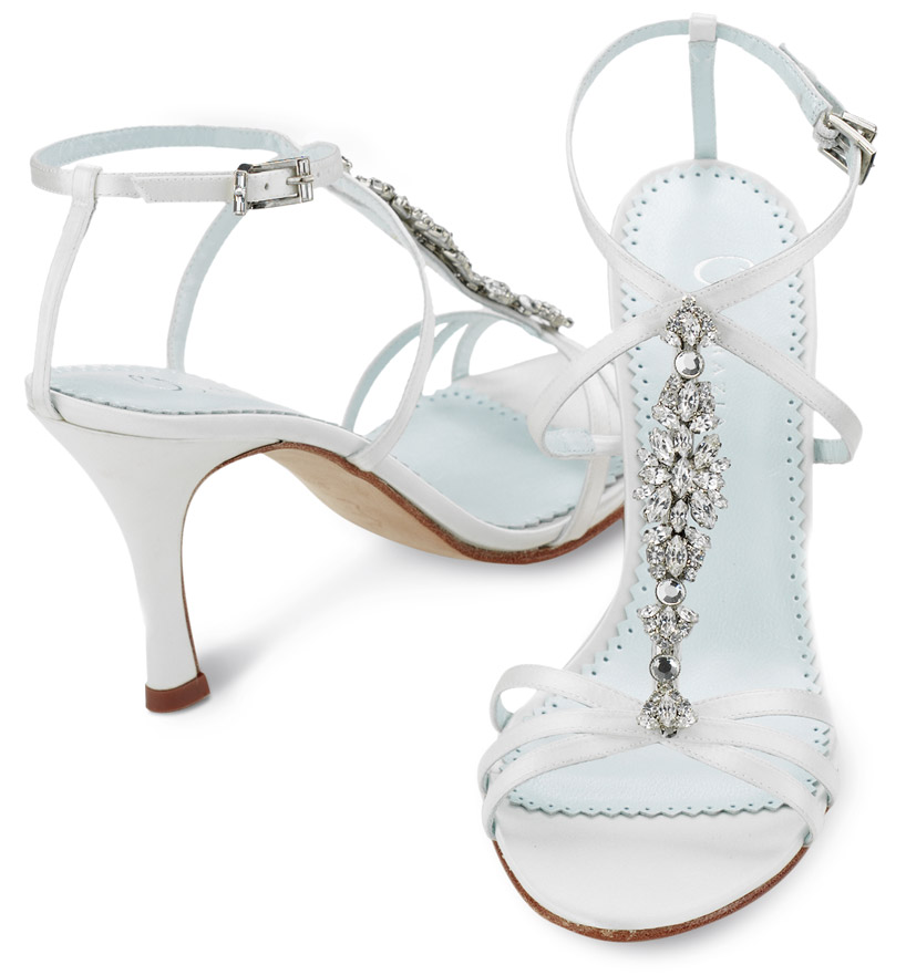 0075701 A Breathtaking Collection of White Bridal Shoes for Your Wedding Day