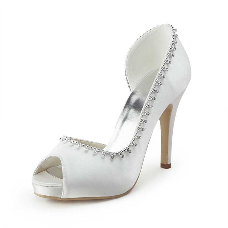 11904457-white-bridal-shoes-rhinestones-peep-toe-stiletto A Breathtaking Collection of White Bridal Shoes for Your Wedding Day