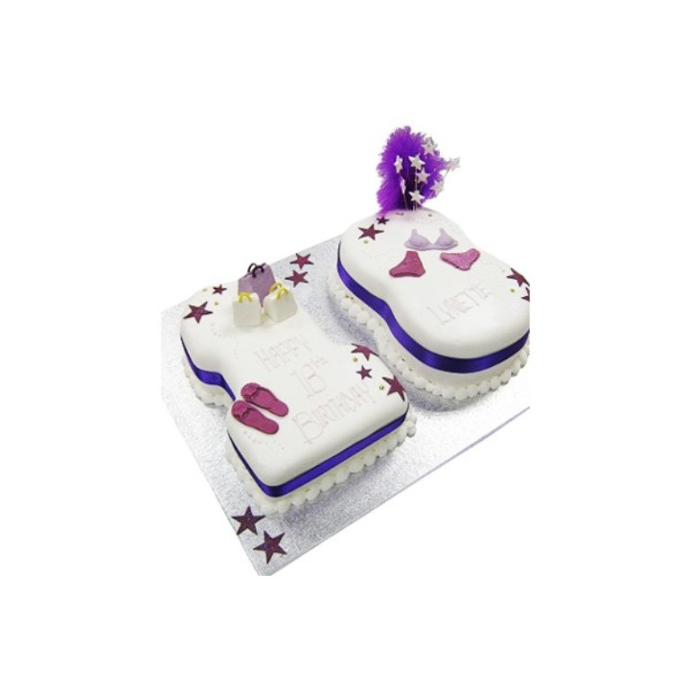 18th-birthday-girls-accessories-cake 60 Mouth-Watering & Stunning Happy Birthday Cakes for You