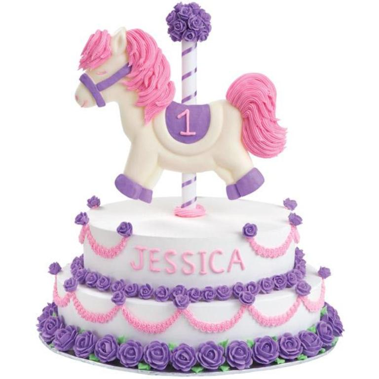 1st-birthday-carousel 60 Mouth-Watering & Stunning Happy Birthday Cakes for You