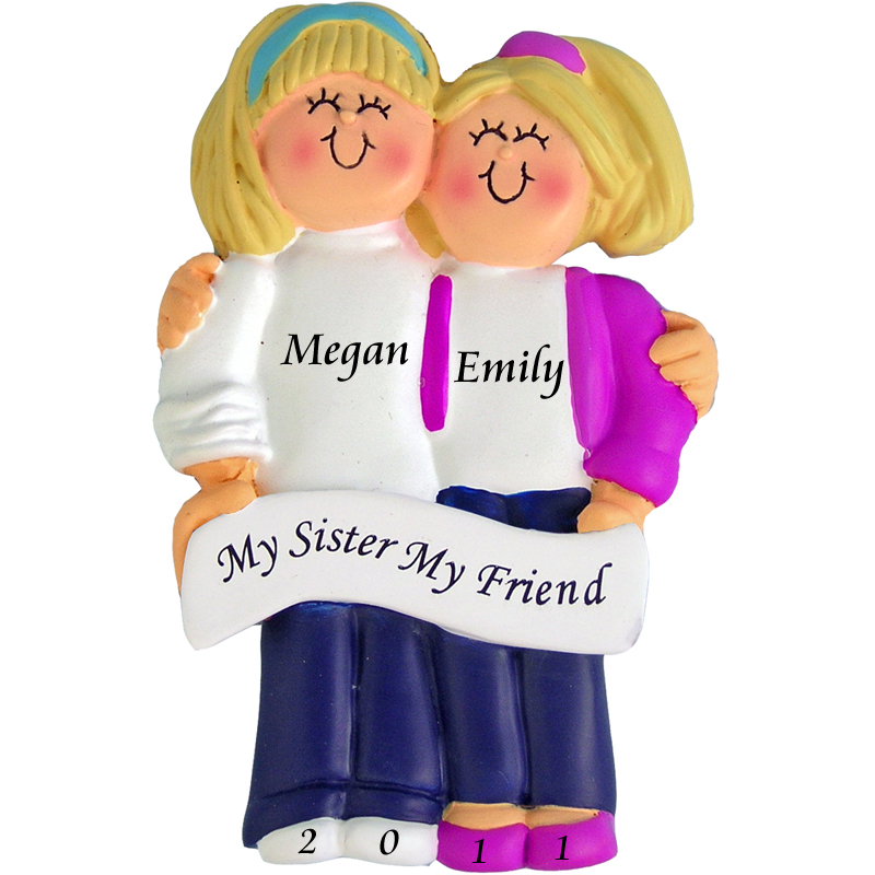 2-blonde-sisters-arm-in-arm-personalized-ornament-800x800 10 Fabulous & Gorgeous Sister Gift Ideas