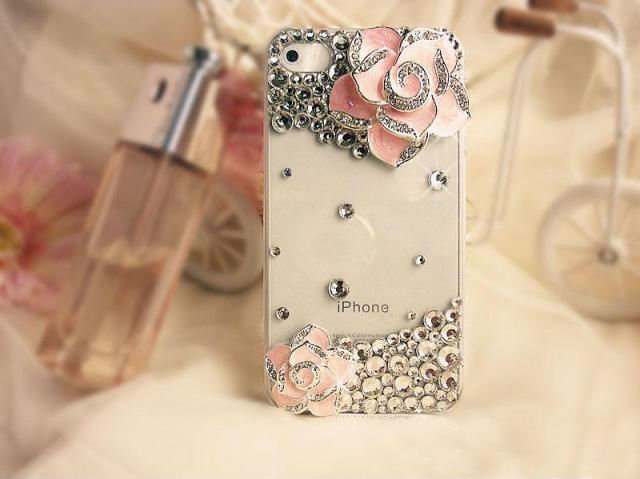 2012-New-Mobile-shell-camellia-diamond-case-for-iphone-4-4s-mobile-phone-hard-cover 50 Fascinating & Luxury Diamond Mobile Covers for Your Mobile
