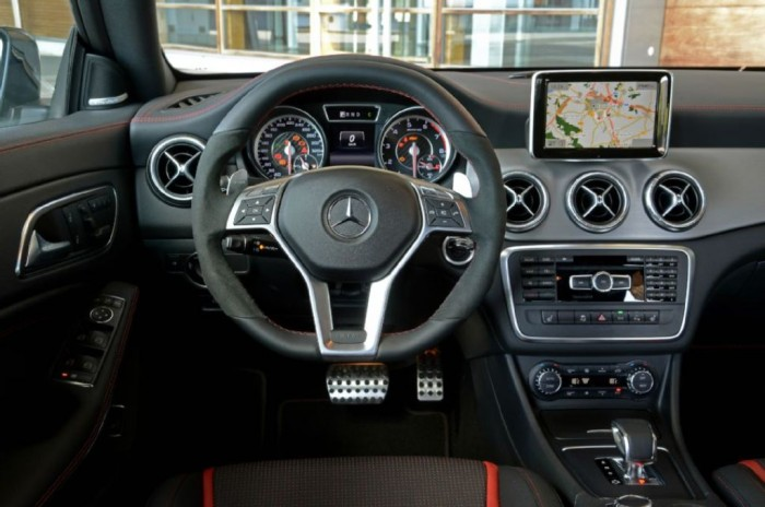 2014-Mercedes-Benz-CLA-45-AMG-steering-wheel Discover the New Mercedes Benz CLA-Class