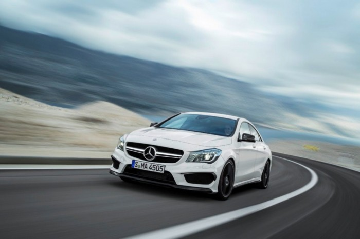 2014-Mercedes-Benz-CLA45-AMG-Front-Overlook Discover the New Mercedes Benz CLA-Class