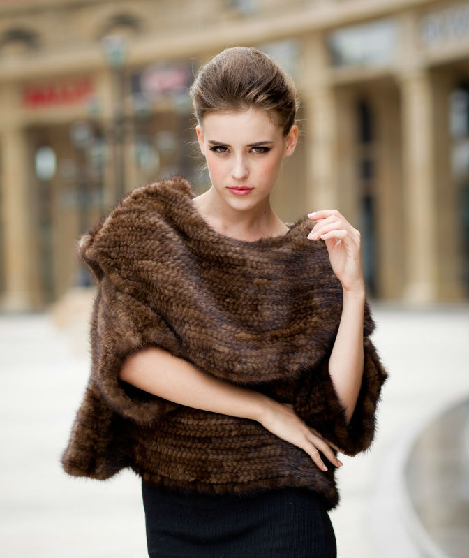 2014_new_design_mink_fur_knit_women 2017 Christmas Gift Ideas for Your Wife