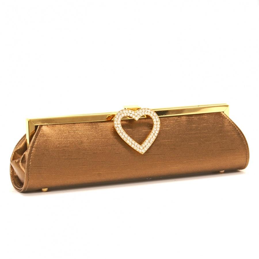 25513477_coffee_satin_diamante_heart_evening_clutch_bag_front 50 Fabulous & Elegant Evening Handbags and Purses