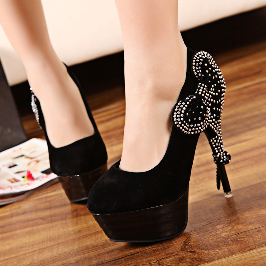 315-New-arrival-fashion-sparkling-diamond-bow-platform-accessories-thin-heels-women-s-shoes-ultra-high-heels-315 2017 Christmas Gift Ideas for Your Wife