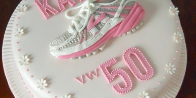 Birthday Cakes For You 50th Running Shoe Trainer Cake Full