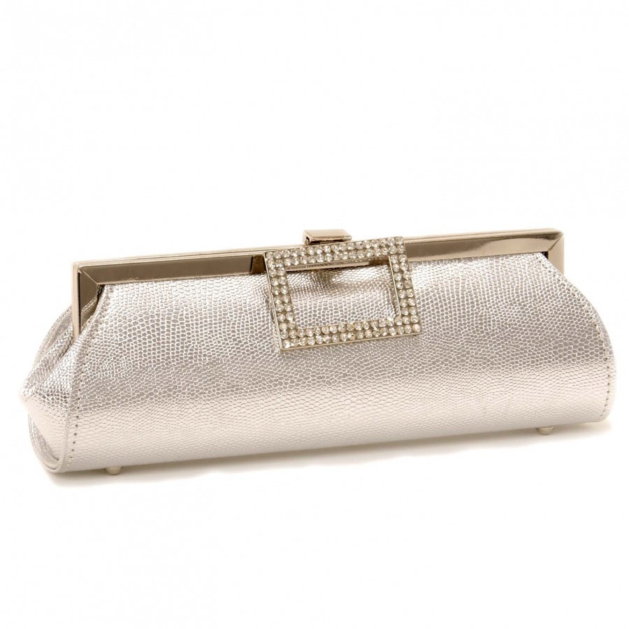 68549424_silver_diamante_buckle_evening_clutch_bag_front 50 Fabulous & Elegant Evening Handbags and Purses