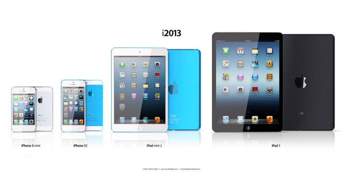 Apple-iPhone-5S-iPad-5-Lineup iPad 5 Is Improved to Be Lighter, Smaller and Thinner than Other iPads
