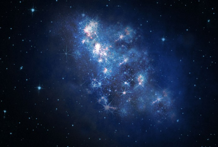 """ArtistsRendition """"z8_GND_5296"""" Has Been Detected to Be the Most Distant Galaxy"""