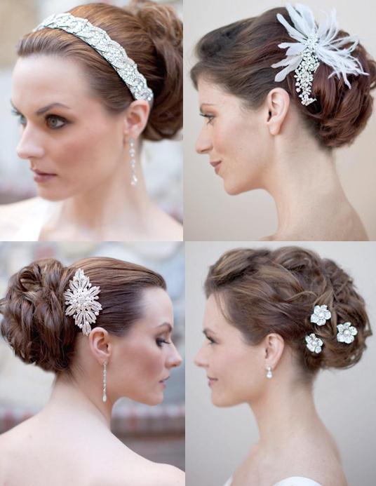 Bridal-Hair-style_-Crystal-Beaded-Headband-Tiara_-Rhinestone-pins-536 50 Dazzling & Fabulous Bridal Hairstyles for Your Wedding