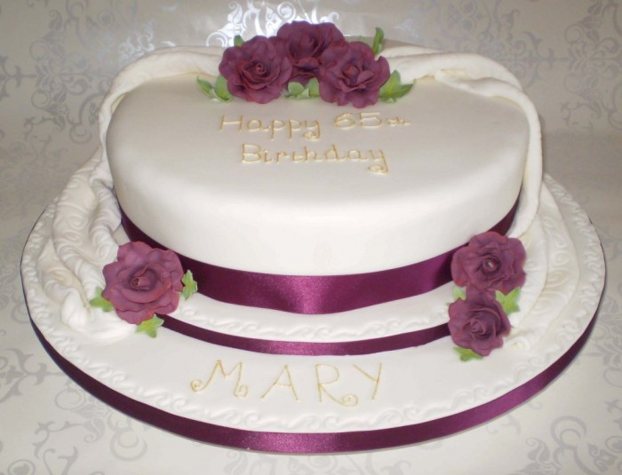 Burgandy-Rose-Birthday-Cake 60 Mouth-Watering & Stunning Happy Birthday Cakes for You