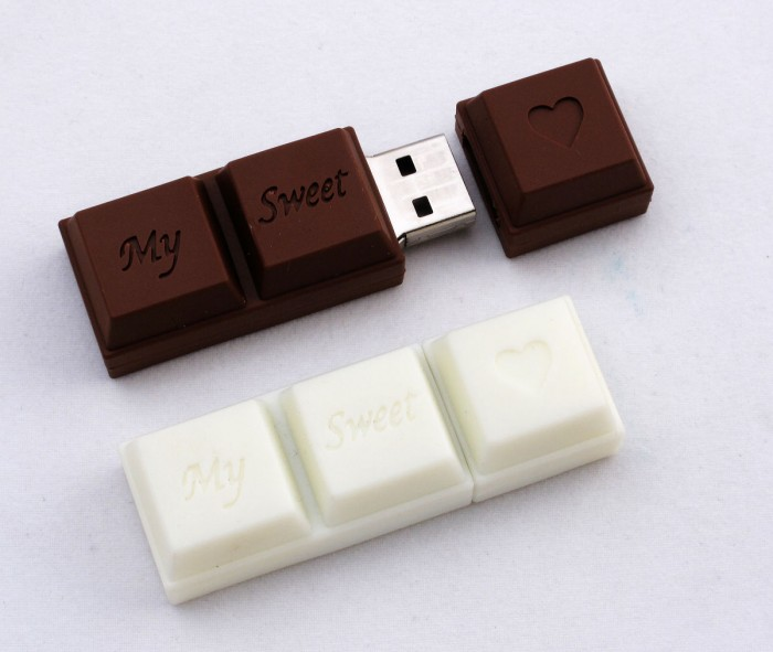 Chocolate-USB-Drive 35 Weird & Funny Gifts for Women
