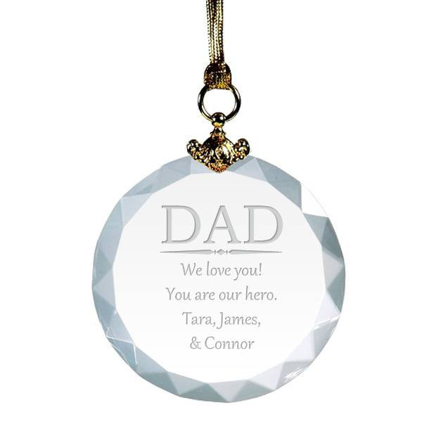 Crystal-Dad-Personalized-Christmas-Ornament-8691_li The Best 10 Christmas Gift Ideas for Your Daddy