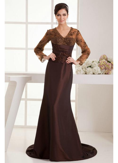 Fashion_Sweep_Train_V_Neck_with_Long_Sleeves_Evening_Dresses__1__8413673787118892_690X500 2017 Christmas Gift Ideas for Your Wife