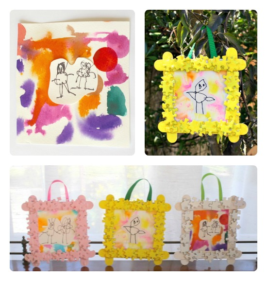 Framed-Kids-Art-Homemade-Mothers-Day-Gift-from-Buggy-and-Buddy-at-B-InspiredMama 10 Fabulous Homemade Gifts for Your Mom