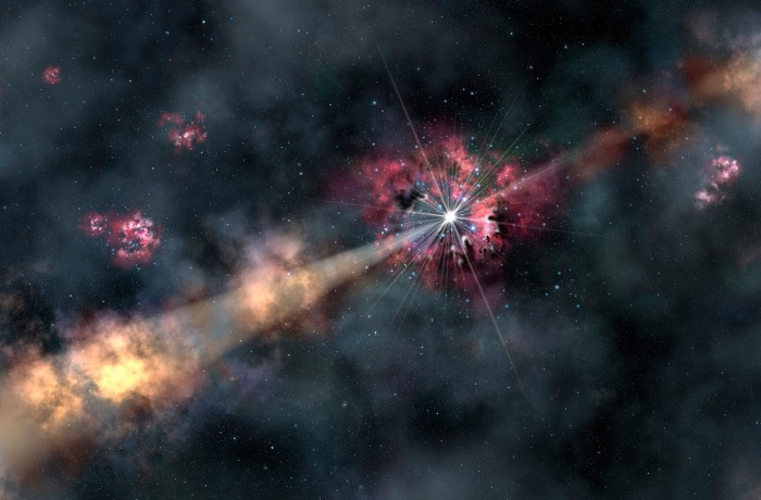 """GRB-130606A-One-of-the-Most-Distant-Gamma-Ray-Bursts-Ever-Found """"z8_GND_5296"""" Has Been Detected to Be the Most Distant Galaxy"""