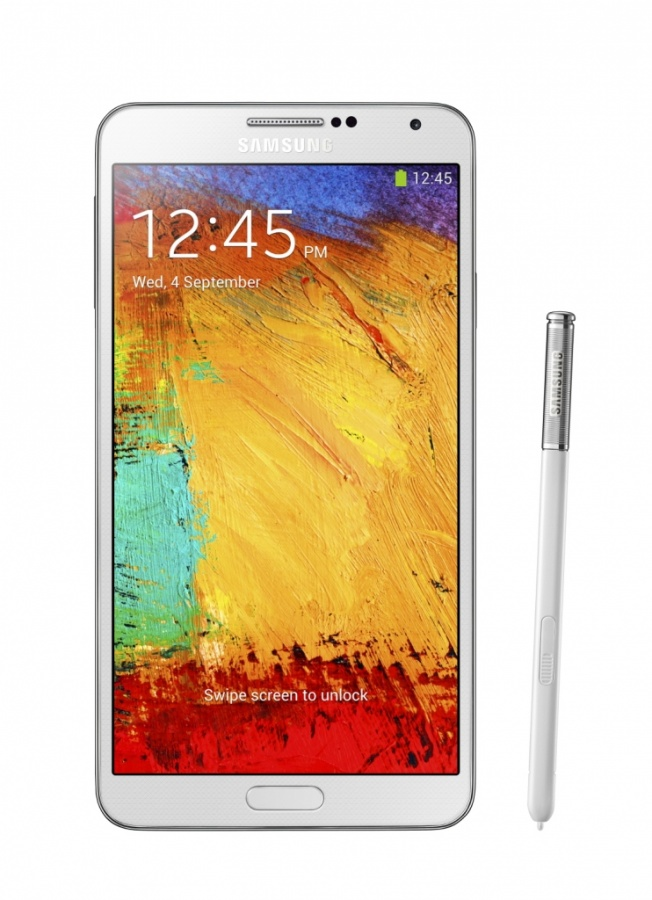 Galaxy-Note-3-front-with-pen-Classic-White Samsung Releases Its Samsung Galaxy Note 3 to Be Lighter & Thinner