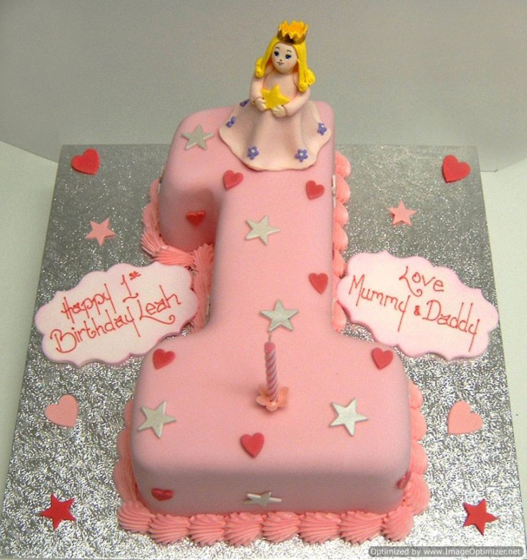 Girls-1st-Birthday-Cake 60 Mouth-Watering & Stunning Happy Birthday Cakes for You