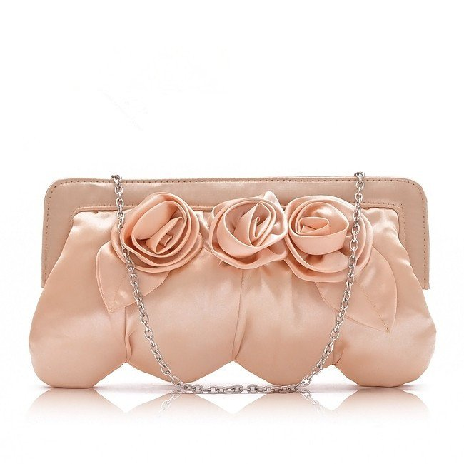 HB035-Vintage-Champagne-Flower-font-b-Satin-b-font-font-b-Purse-b-font-Clutch-Chains 50 Fabulous & Elegant Evening Handbags and Purses