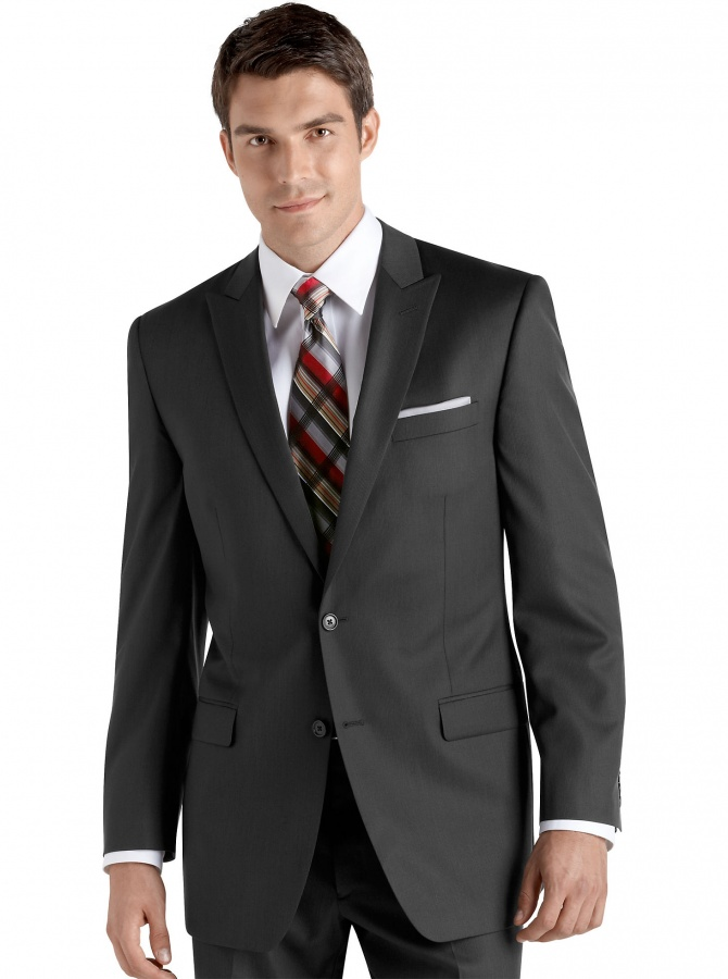 Handsome-Peak-Lapel-Solid-Modern-Grey-Groom-Suits 10 Amazing Xmas Gifts for Your Husband