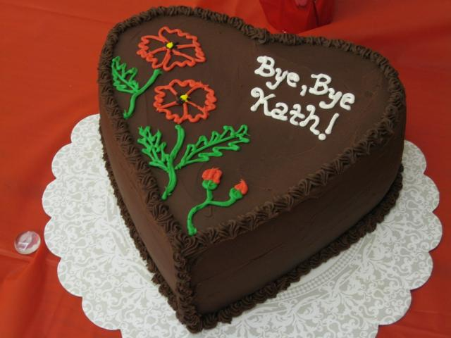 Heart shaped chocolate retirement cake Pouted Online ...