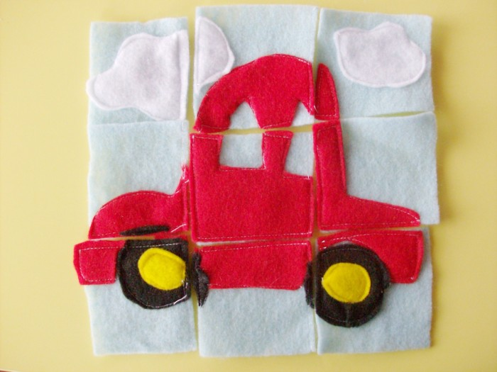 Homemade-Gift-Felt-Puzzles-Car 10 Stunning & Fascinating Homemade Xmas Gifts