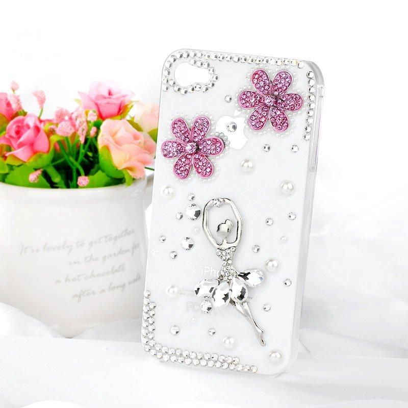 Hot-Ballet-Girl-bling-diamond-mobile-phone-luxury-cover-for-iphone4-4s-rhinestones-case-accessories-4g 50 Fascinating & Luxury Diamond Mobile Covers for Your Mobile