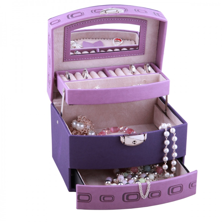 Jewelry-box-princess-dressing-quality-leather-lock-jewelry-storage-box 11 Tips on Mixing Antique and Modern Décor Styles