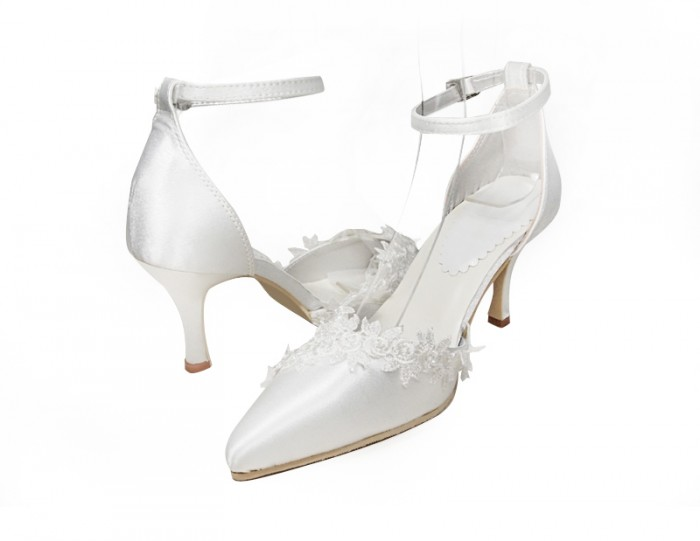 Jodie-white-3-inch-bridal-wedding-shoes A Breathtaking Collection of White Bridal Shoes for Your Wedding Day
