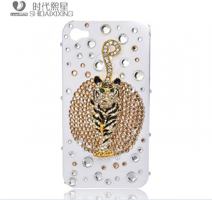 Lion-diamond-mobile-phone-luxury-cover-for-iphone4-accessories-for-iphone4g-case-for-iphone4s-case-free 50 Fascinating & Luxury Diamond Mobile Covers for Your Mobile