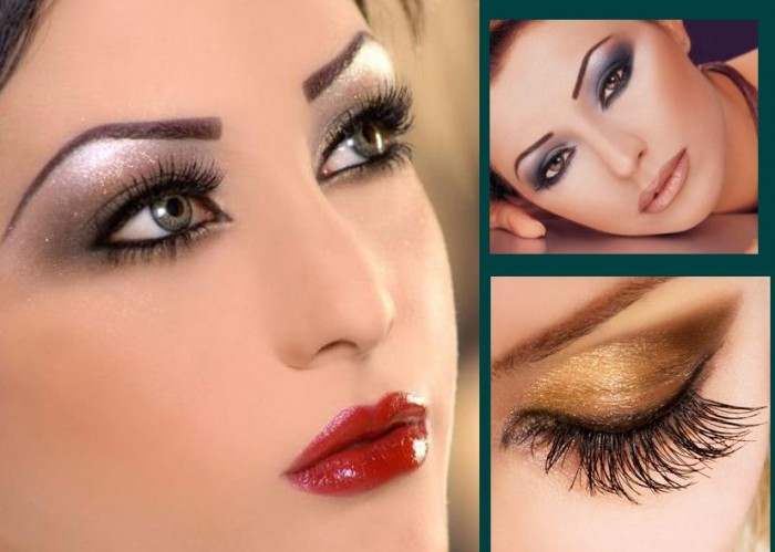 Metallic-eye-makeup-Type Get a Magnificent & Catchy Eye Make-up Following These 6 Easy Steps
