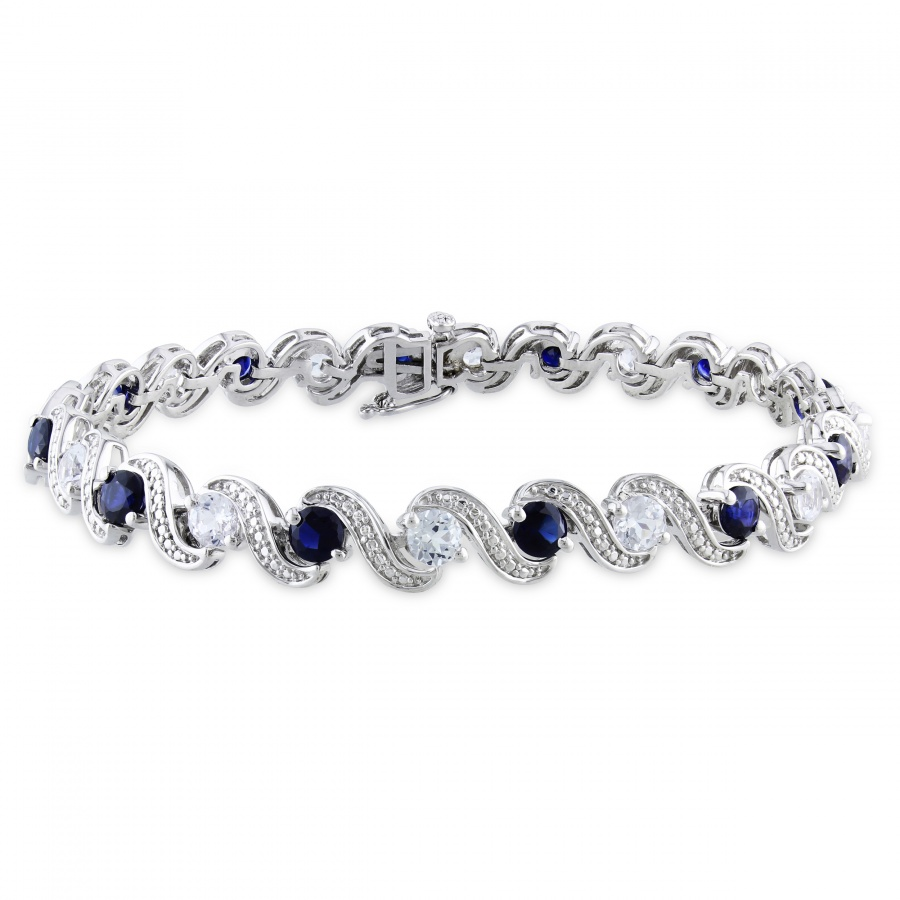 Miadora-Sterling-Silver-Created-Blue-and-White-Sapphire-Bracelet-P14740789 10 catchy & Unique Gift Ideas for Your Mother-in-Law