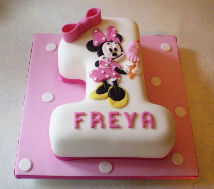 Minnie-Mouse-Number-1-Birthday-Cake 60 Mouth-Watering & Stunning Happy Birthday Cakes for You