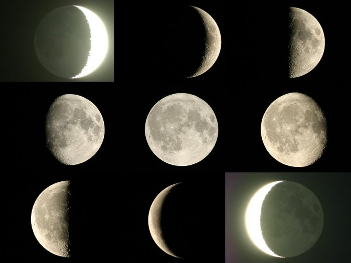 Moon-phases58 The Monthly Cycle Of The Moon And Its Phases