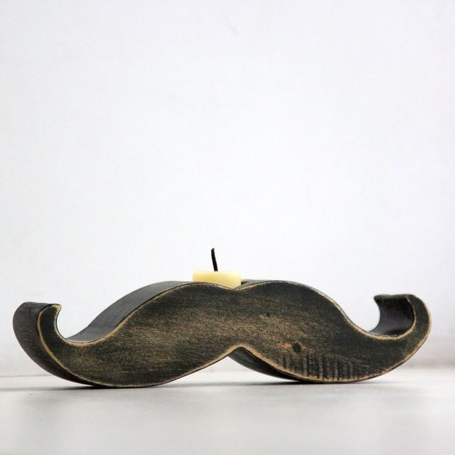Mustache-Candle-Holder 45 Non-traditional & Funny Christmas Gifts for 2021