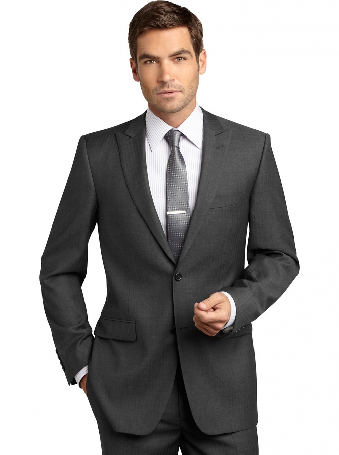 Peak-Lapel-Two-Buttons-Custom-Made-Grey-Groom-Suits 10 Amazing Xmas Gifts for Your Husband