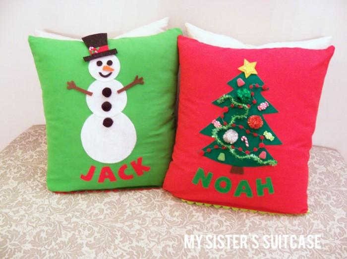 Pillows-final 10 Stunning & Fascinating Homemade Xmas Gifts