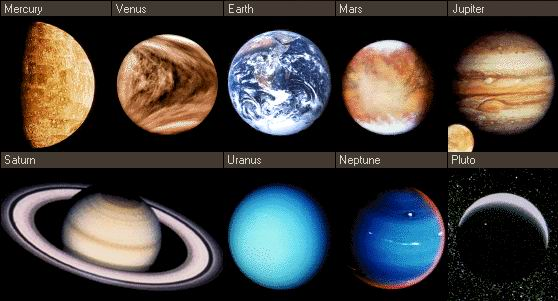 Pjaneti The 9 Planets Of The Solar System And Their Characteristics