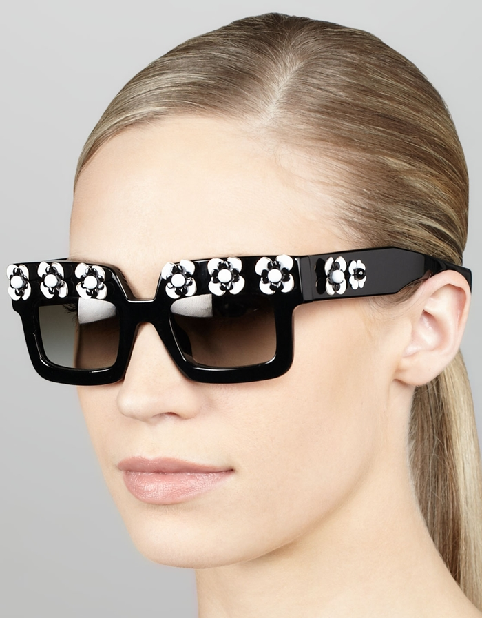 Prada_Flower_Square_Sunglasses_online 48+ Best Christmas Gift Ideas for Your Wife