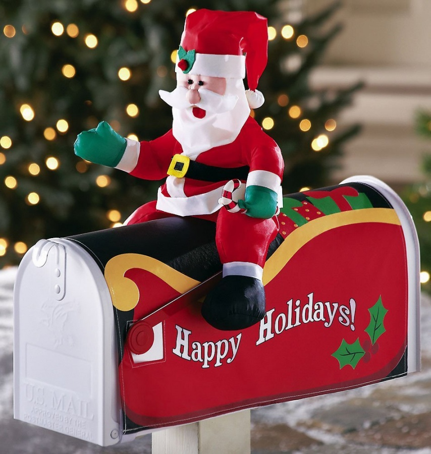 Santa-Claus-Mailbox-Cover-Outdoor-Decoration Top 20 Newest Eyelashes Beauty Trends in 2019