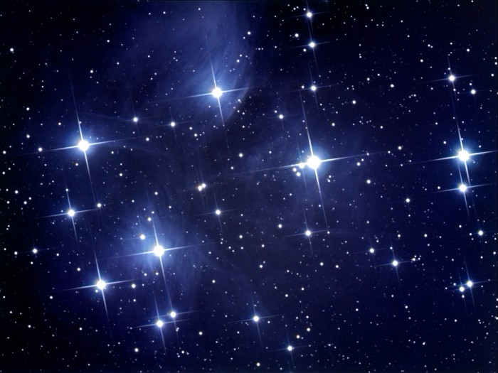 Sum_Pleiades_Dec_2007_4_x_10_mins_each_2x2_RGB_ps_1_low Names Of The Top 10 Most Brightest Stars In The Sky