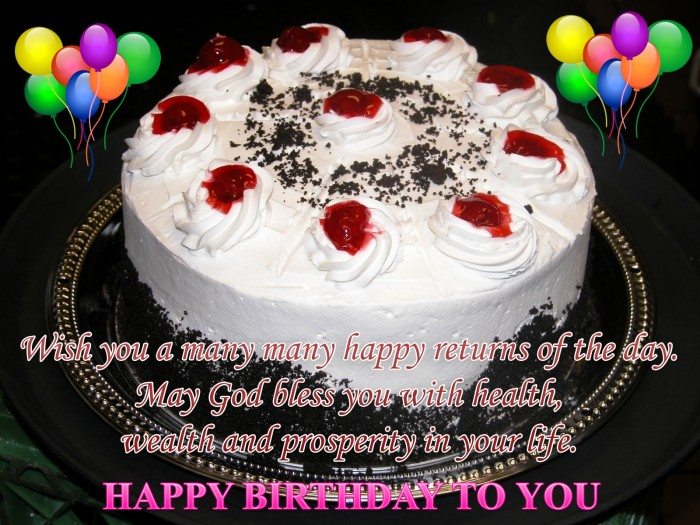 Wishing-you-birthday-with-yummy-cake 60 Mouth-Watering & Stunning Happy Birthday Cakes for You
