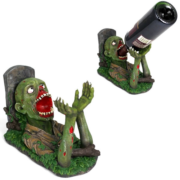 Zombie-Wine-Bottle-Holder 10 Simple & Cheap Engagement Gifts for Men