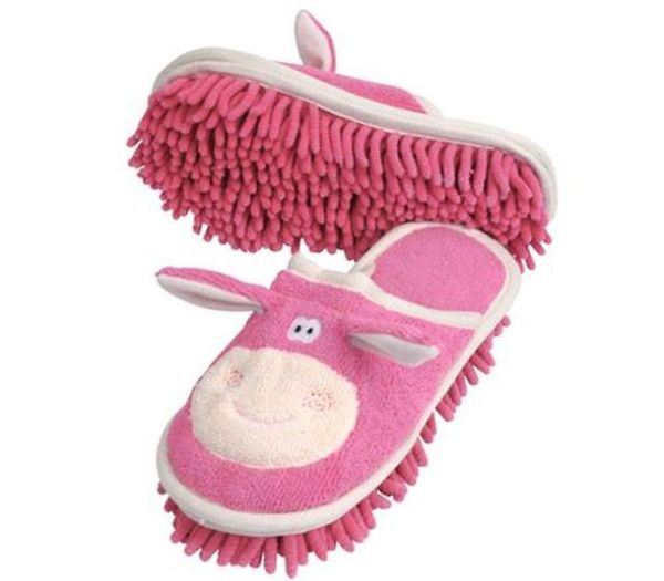 a.baa-Funny-Cow-Slippers-To-Clean- 45 Non-traditional & Funny Christmas Gifts for 2019