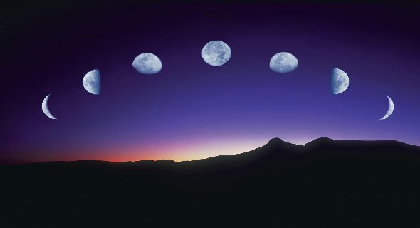 all-shapes-moon-wallpapers-t The Monthly Cycle Of The Moon And Its Phases