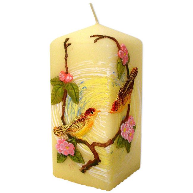 birds-decorative-candle-block_LRG 10 Stunning & Fascinating Homemade Xmas Gifts