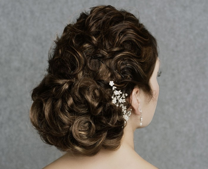 brea 50 Dazzling & Fabulous Bridal Hairstyles for Your Wedding