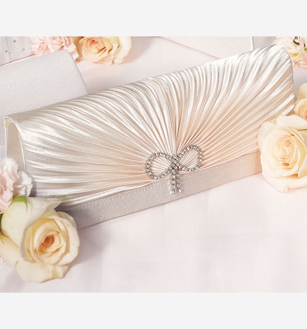 classic_rouching_and_crystal_bow_evening_bag_1 50 Fabulous & Elegant Evening Handbags and Purses